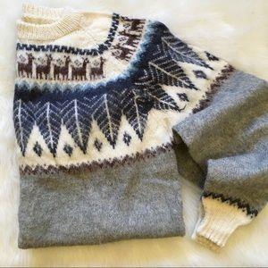 Vintage Wool Alpaca Winter Sweater (has flaws)